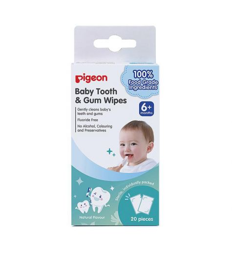 Pigeon Baby Tooth & Gum Wipes 20 Pack
