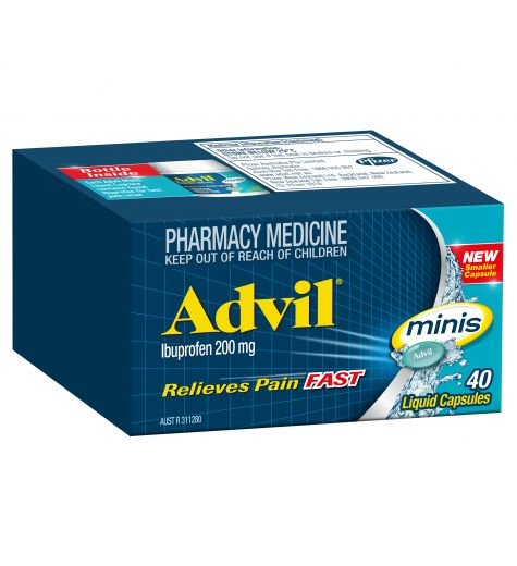 Advil Mini Liquid Capsules 40