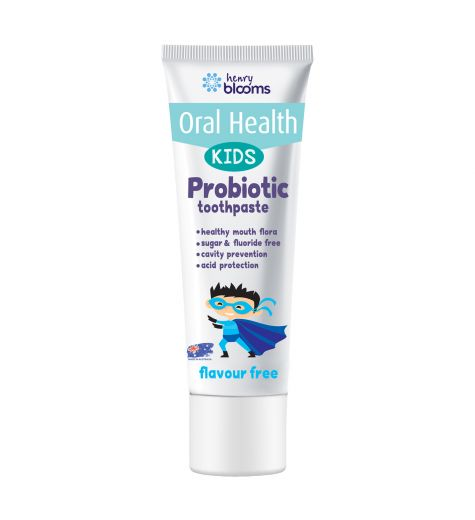 Blooms Kids Probiotic Toothpaste Flavour Free 50g