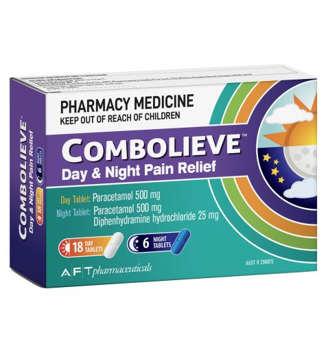 Combolieve Day & Night Pain Relief Tablets 24