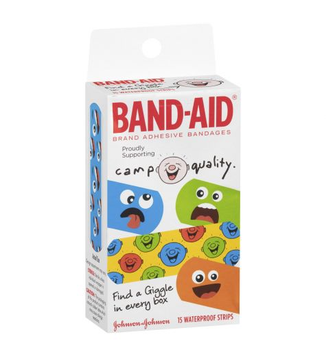 Band-Aid Camp Quality Waterproof Strips 15
