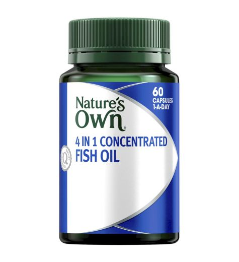 Natures Own 4 In 1 Concentrated Fish Oil Capsules 60