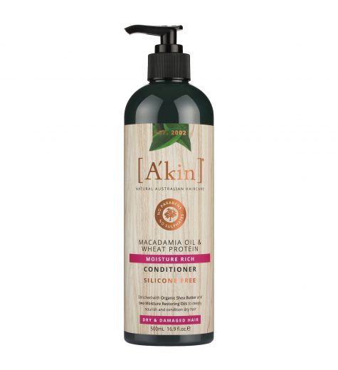 Akin Macadamia Oil & Wheat Protein Moisture Rich Conditioner 500ml