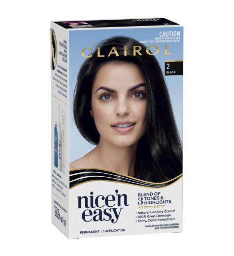 Clairol Nice 'N Easy Permanent Colour 2 Natural Black
