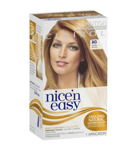 Clairol Nice 'N Easy Permanent Hair Color Kit in Natural Golden Blonde 8G