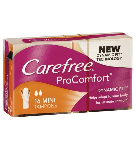 Carefree Procomfort 16 Mini Tampons