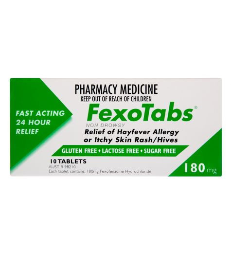 Fexotabs 180mg Tablets 10 (Same as Telfast)