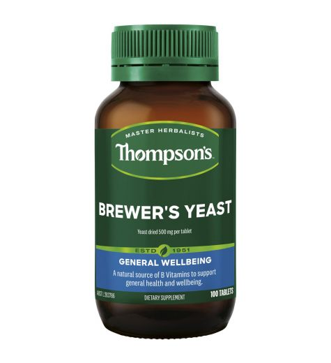 Thompson's Brewers Yeast 500mg 100 Tablets