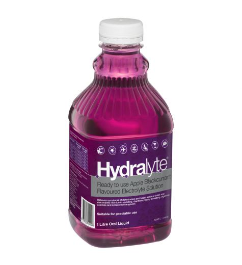 Hydralyte Ready To Use Apple Blackcurrant Electrolyte Liquid 1 Litre