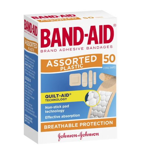 Band-Aid Handy Assortment Of Shapes 50 Sterile Shapes