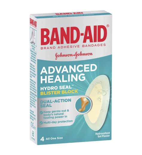 Band-Aid Advanced Healing Blister Block 4 Cushions (4.2cm x 6.8cm)