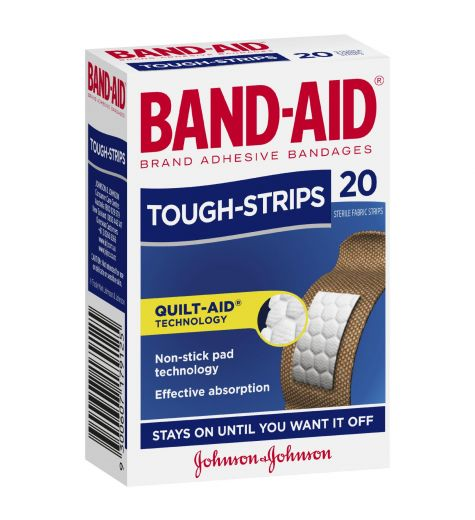 Band-Aid Tough Strips Regular 20