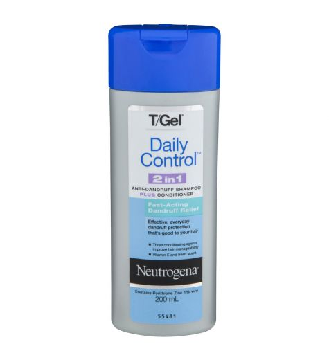 Neutrogena T/Gel Daily Control 2 In 1 Shampoo 200ml