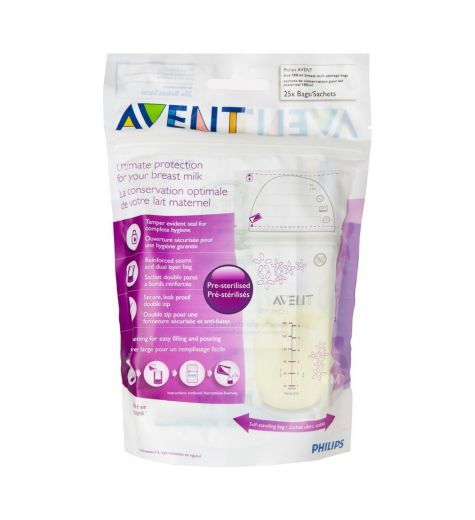 Avent Breast Milk Storage Bags 50 x 180ml