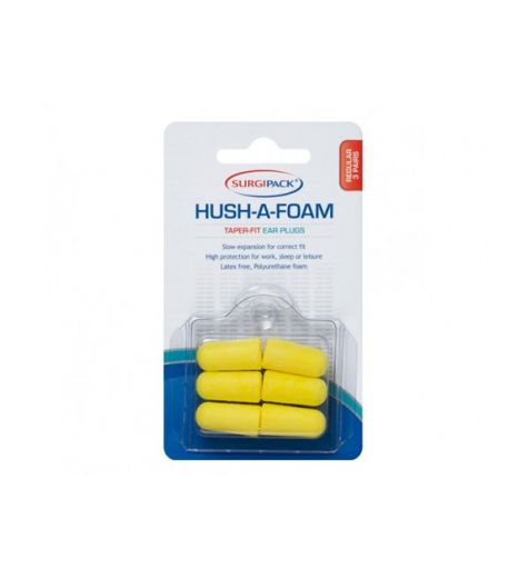 SurgiPack Hush-A-Foam Taper-Fit Ear Plugs 2 Pairs