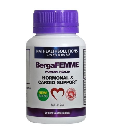BergaFemme Menopause & Cardio Support Tablets 60