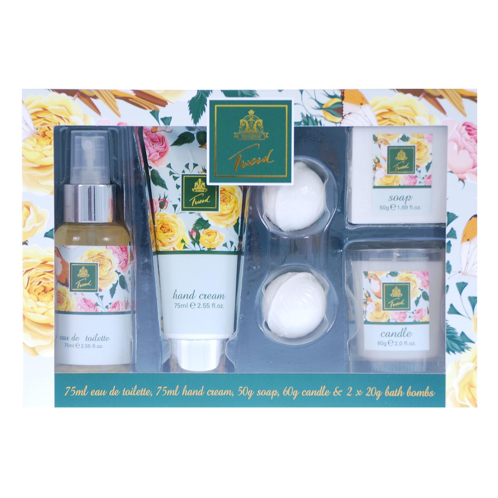 2f0c44661a4 Details about Tweed 6 Piece Gift Set Perfume Hand Cream Soap Candle  Fragrance