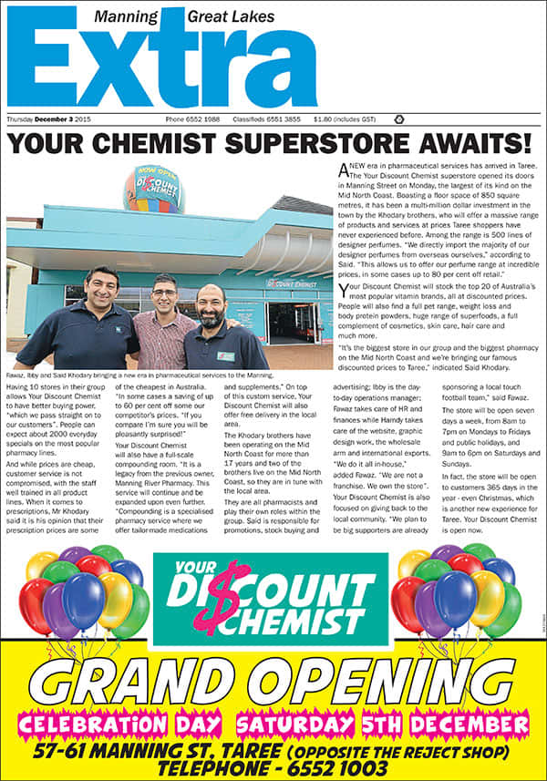 Your Discount Chemist Taree Opening