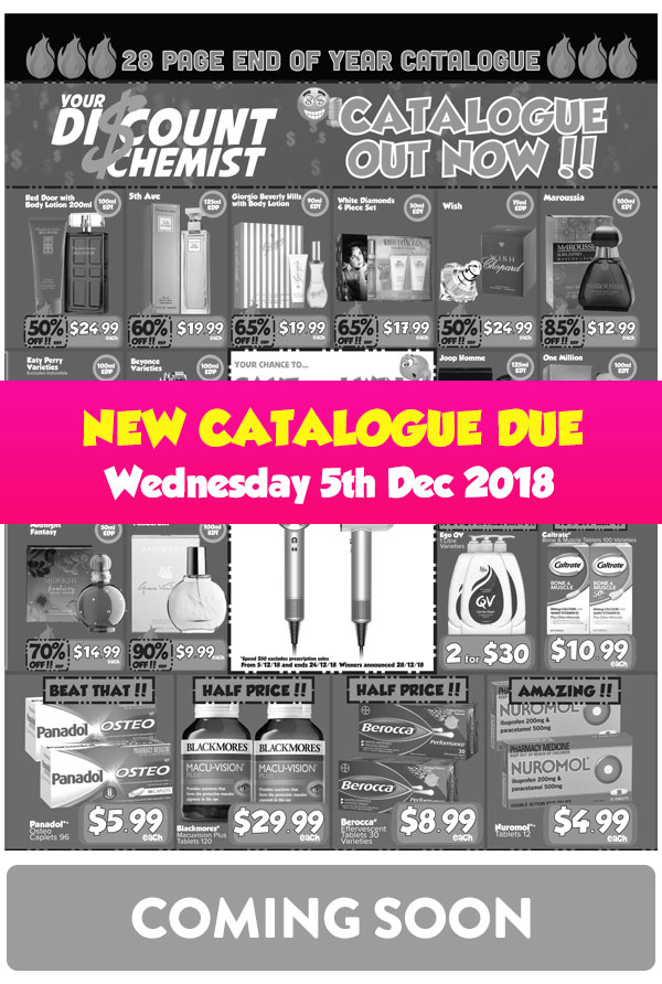 New Catalogue Coming Soon