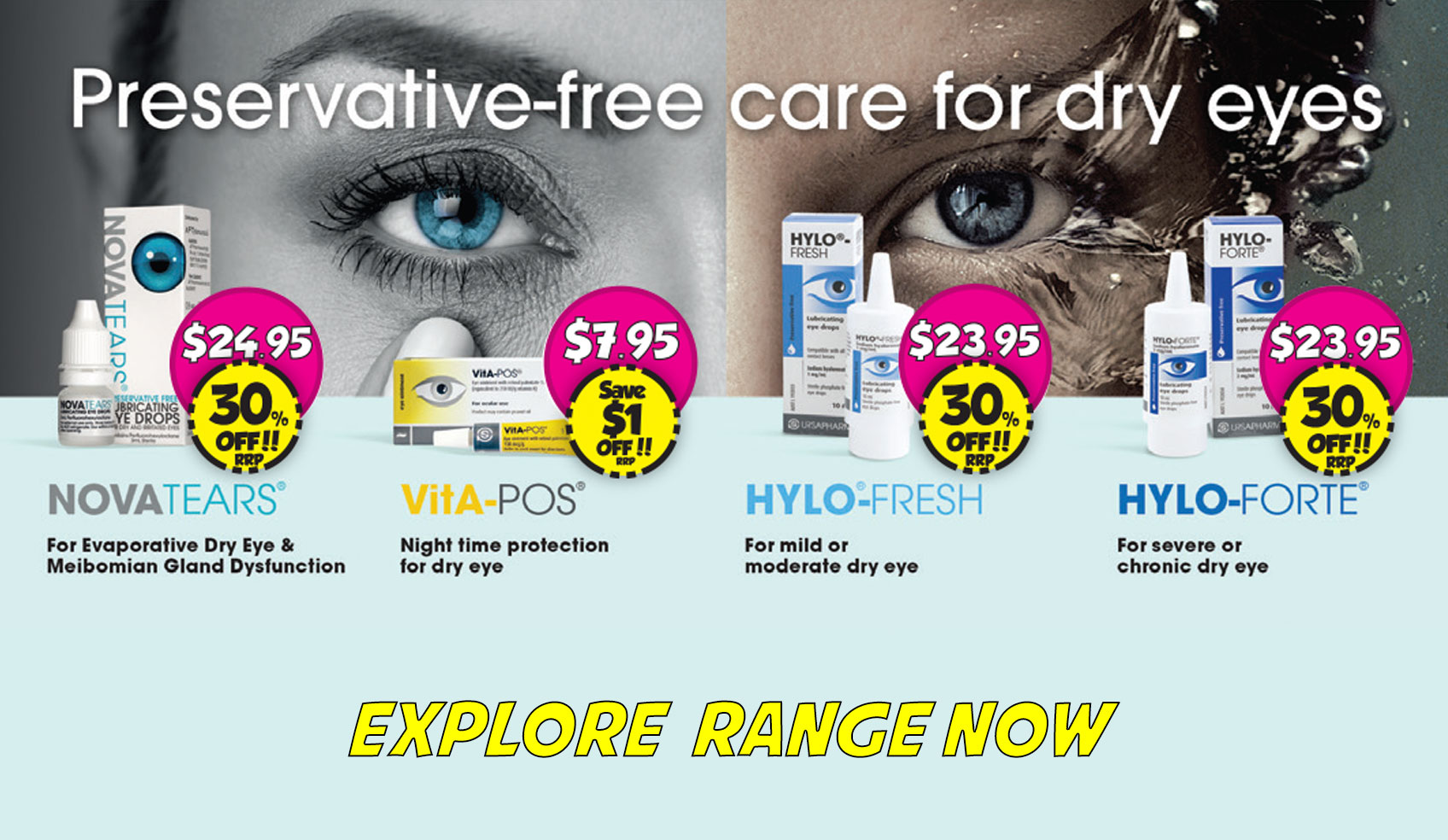 Eye Drops Range